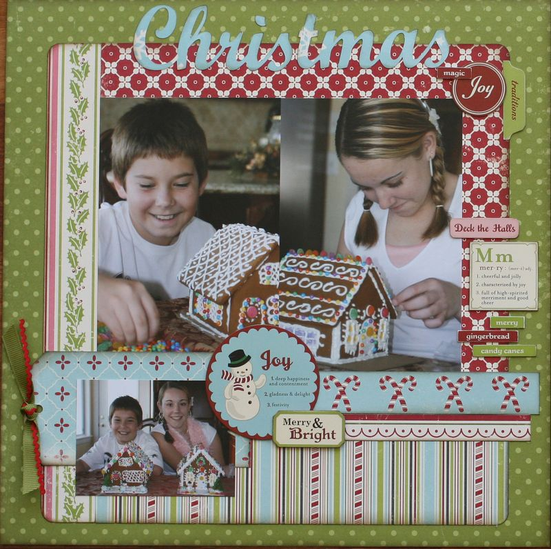 October afternoon christmas layout left side