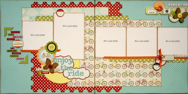 Enjoy the ride 2 page layout (Small)