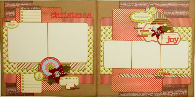 Christmas Joy 2 page layout (Medium)