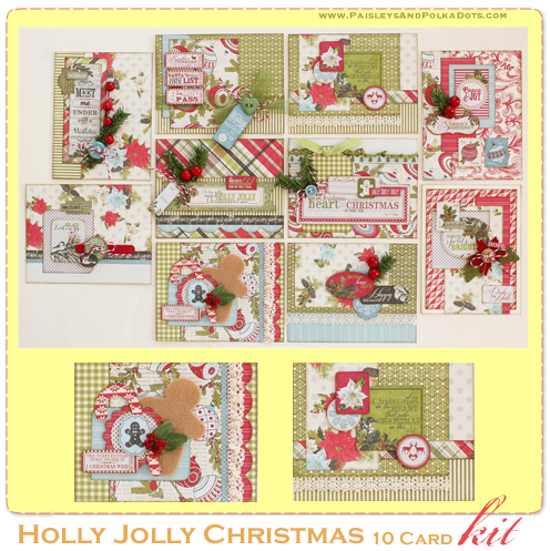 Holly Jolly card kit gallery image