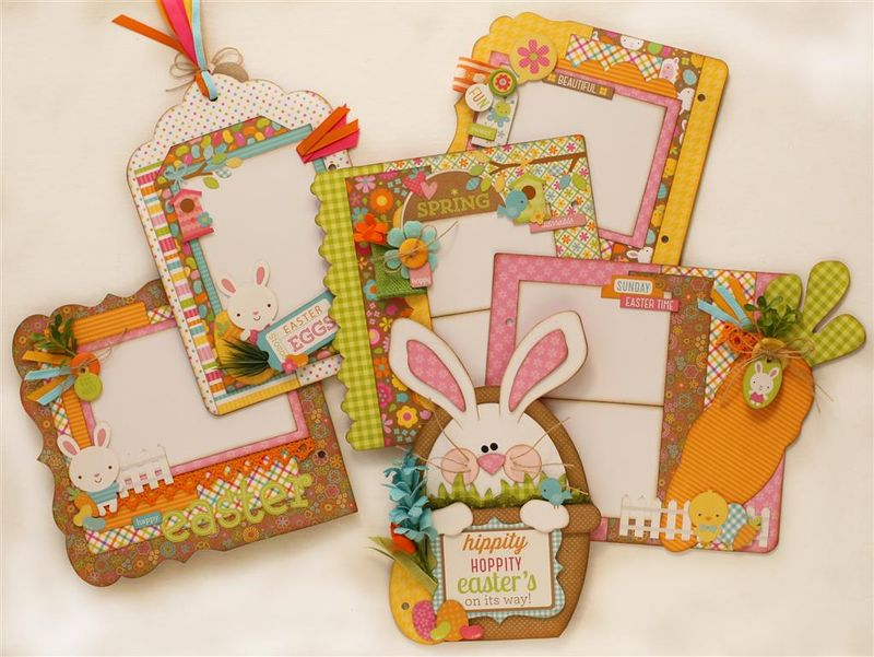 Hippity Hoppity Easter Bunny Album inside pages (Medium) (2)