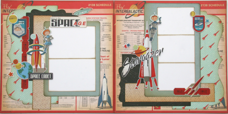 Space Age two page layout