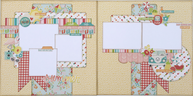 Lazy Summer Days Two Page Layout