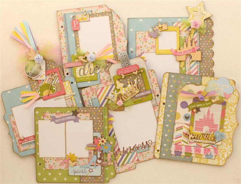 Enchanted Princess mini album inside pages (Medium)