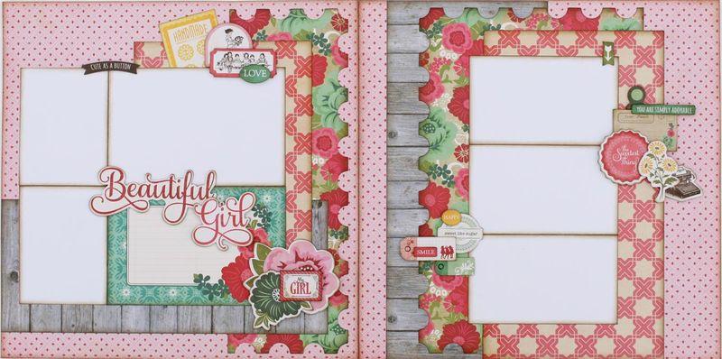 Beautiful Girl Two Page layout (Medium)