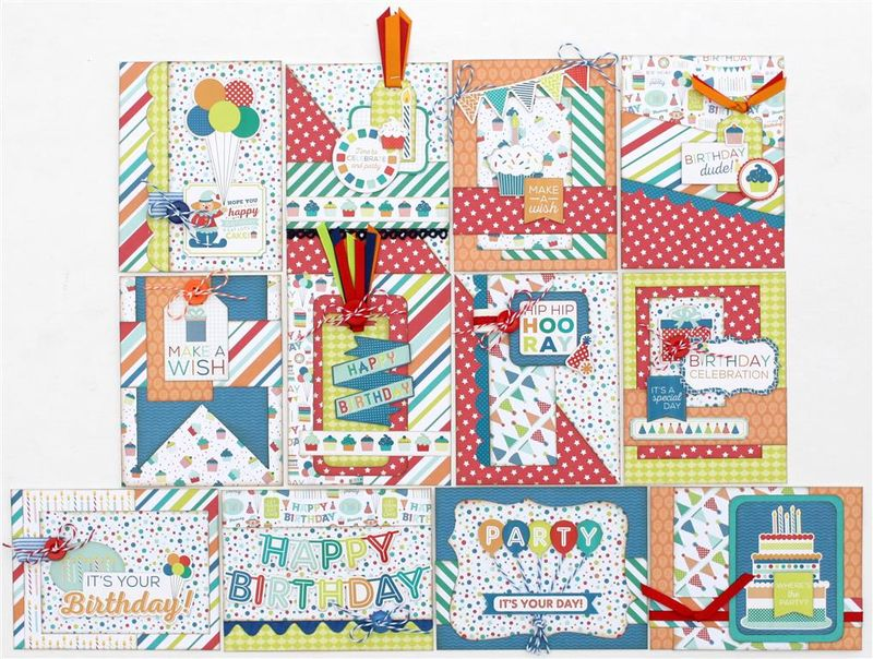 Birthday Wishes Boy card kit (Medium)