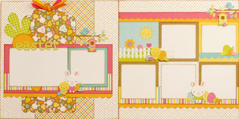Hippity Hoppity Easter two page layout (Large)